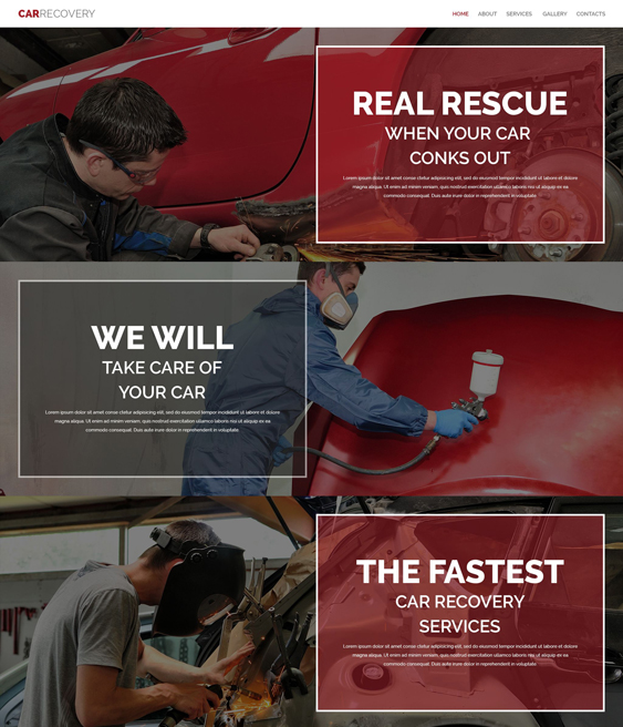 bootstrap website templates auto mechanics car repair centers