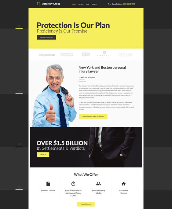 Of The Best Bootstrap Website Templates For Lawyers Attorneys - Law firm templates
