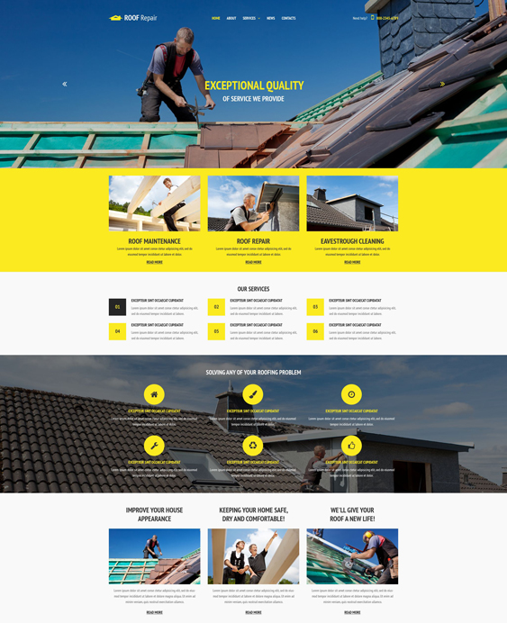 12 of the Best Bootstrap Website Templates for Construction ...