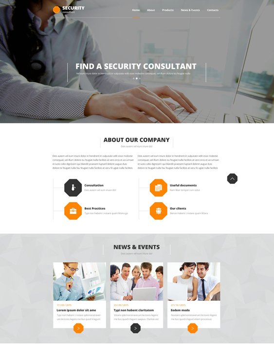 We have about (1) it consulting website template free website templates in css,. 6 Of The Best Bootstrap Website Templates For Security Firms Consultants Br Down