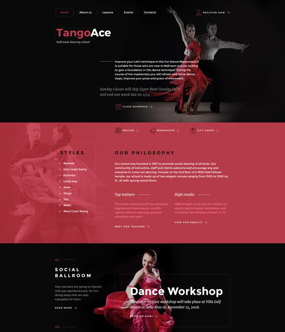 bootstrap website templates dance schools dance teachers