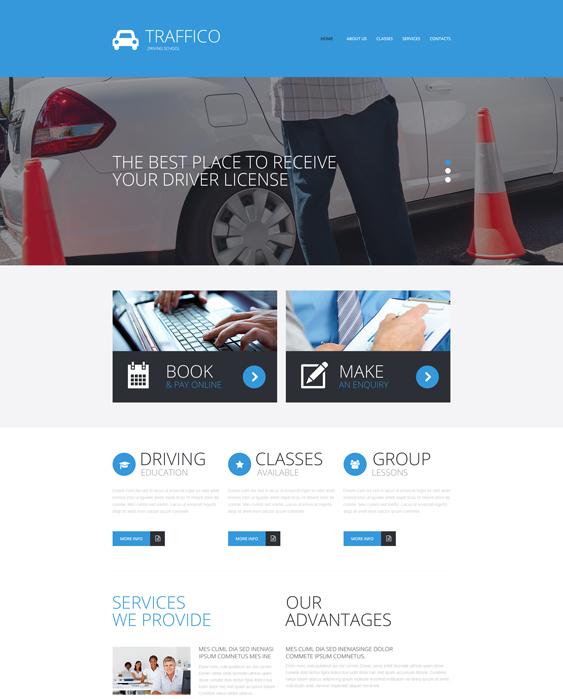 bootstrap website templates driving instructors traffic schools