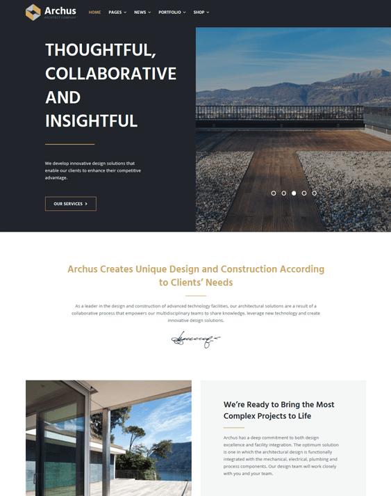 wordpress themes architects architecture firms