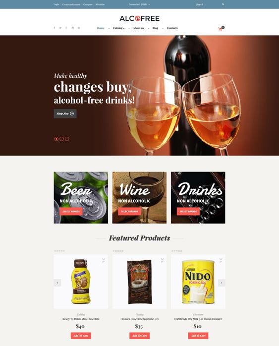 virtuemart templates online food drink stores