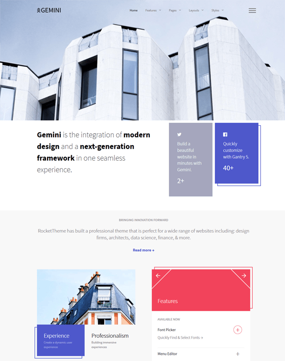 joomla templates architects architecture firms