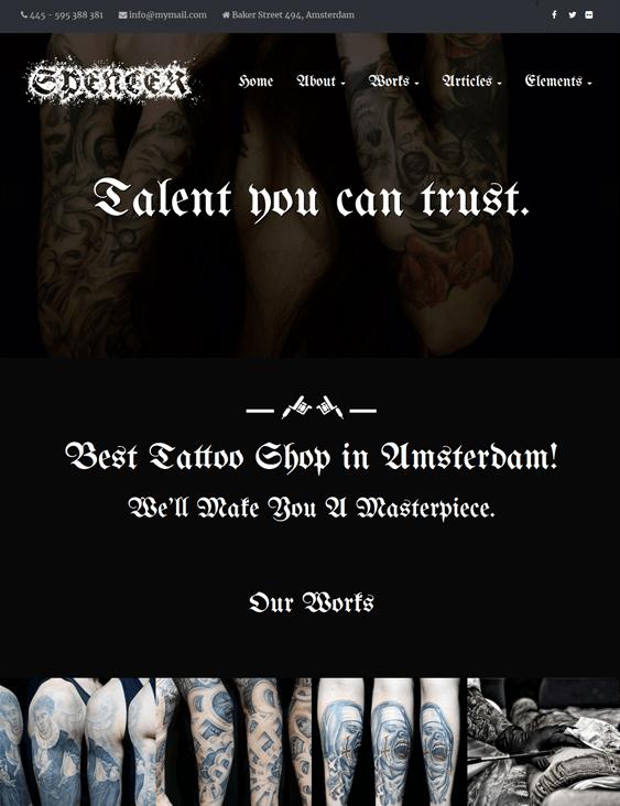 wordpress themes tattoo artists salons