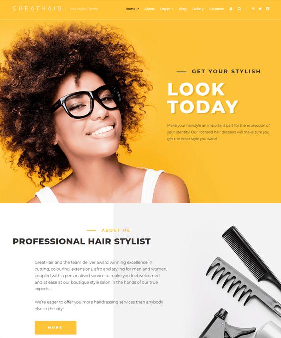 nail salon barbershop hair stylist joomla templates
