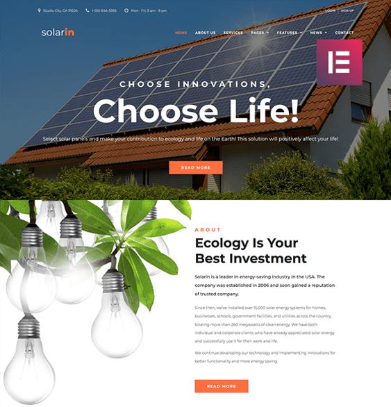 wordpress themes green organic ecofriendly websites