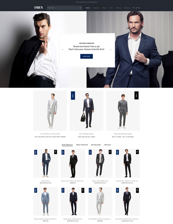 best shopify themes men's clothing accesories