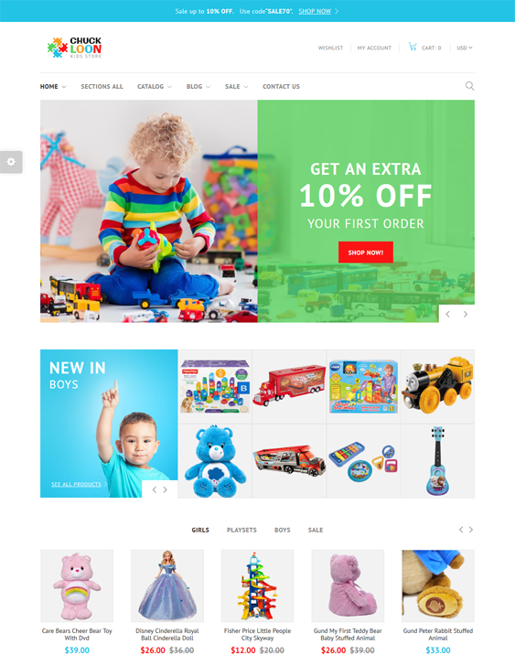 kids shopify themes children babies