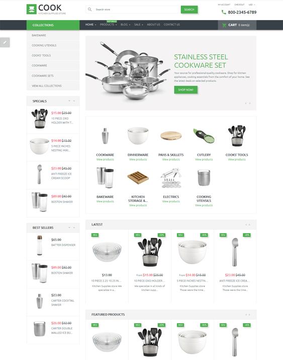 shopify themes kitchenware