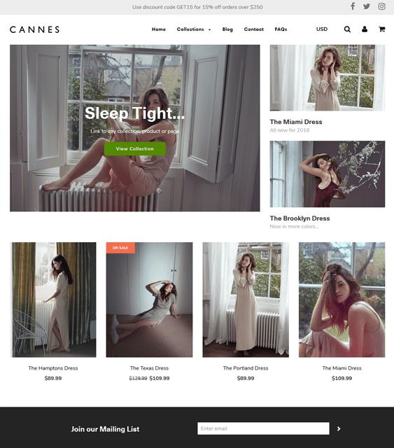 shopify themes lingerie underwear sleepwear stores