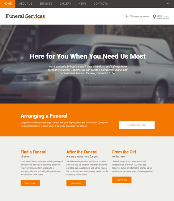 funeral home drupal themes