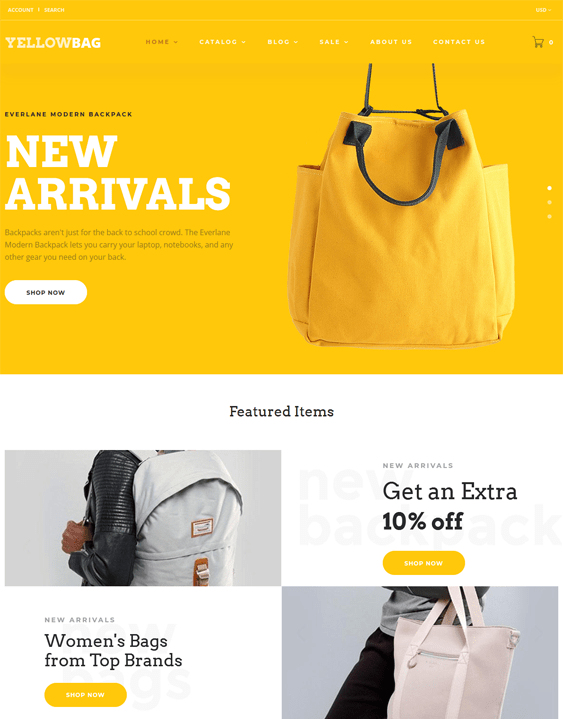 shopify themes purses handbags tote bags backpacks