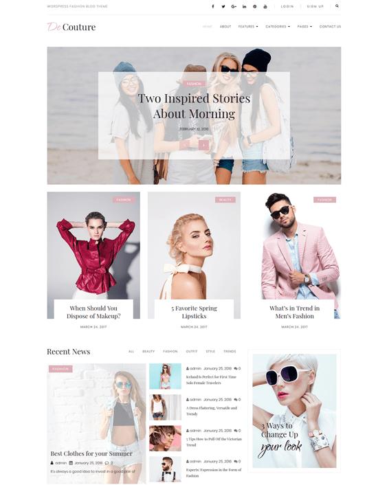 wordpress themes fashion blogs