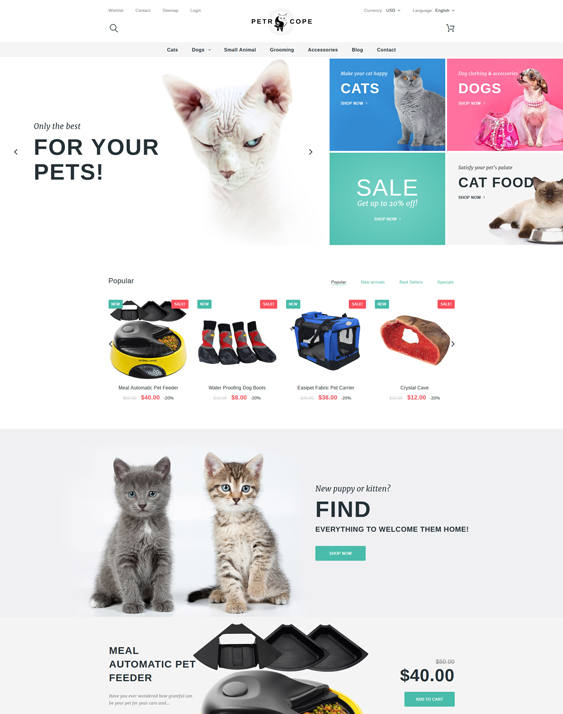 pet store prestashop themes