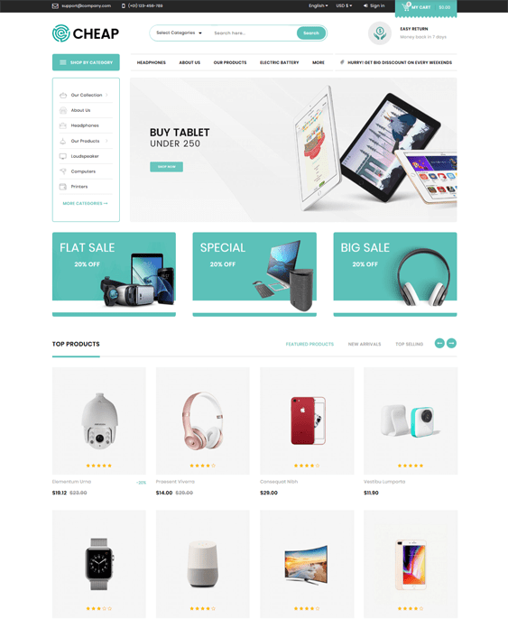 prestashop themes electronics stores