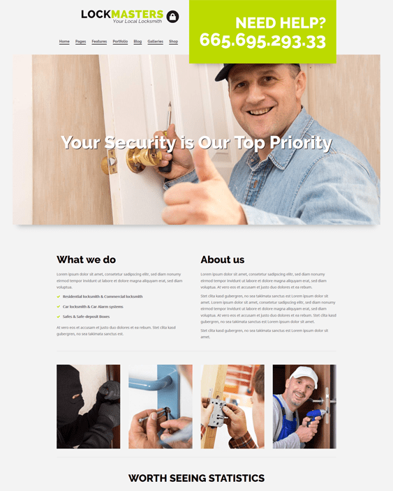 construction company building contractor wordpress themes