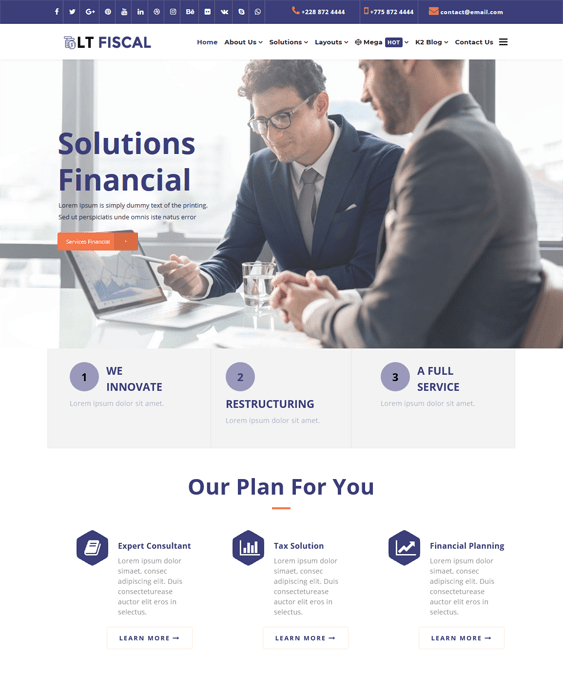 financial joomla templates