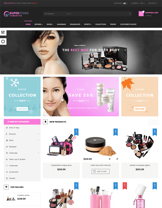 prestashop themes for beauty products cosmetics makeup