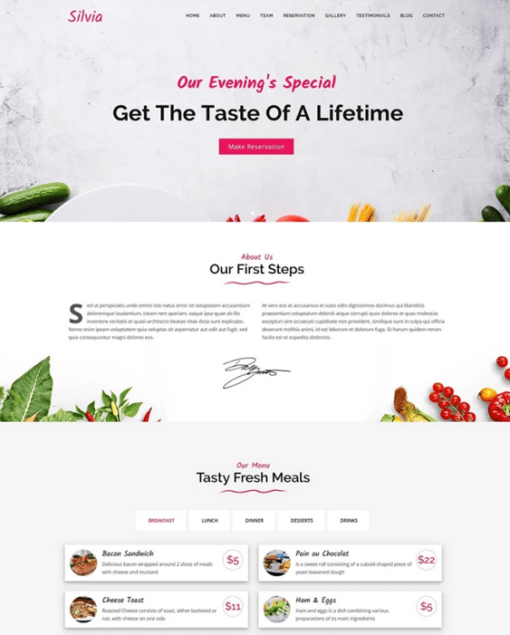 restaurant joomla templates