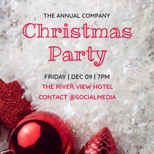 christmas party invitations and