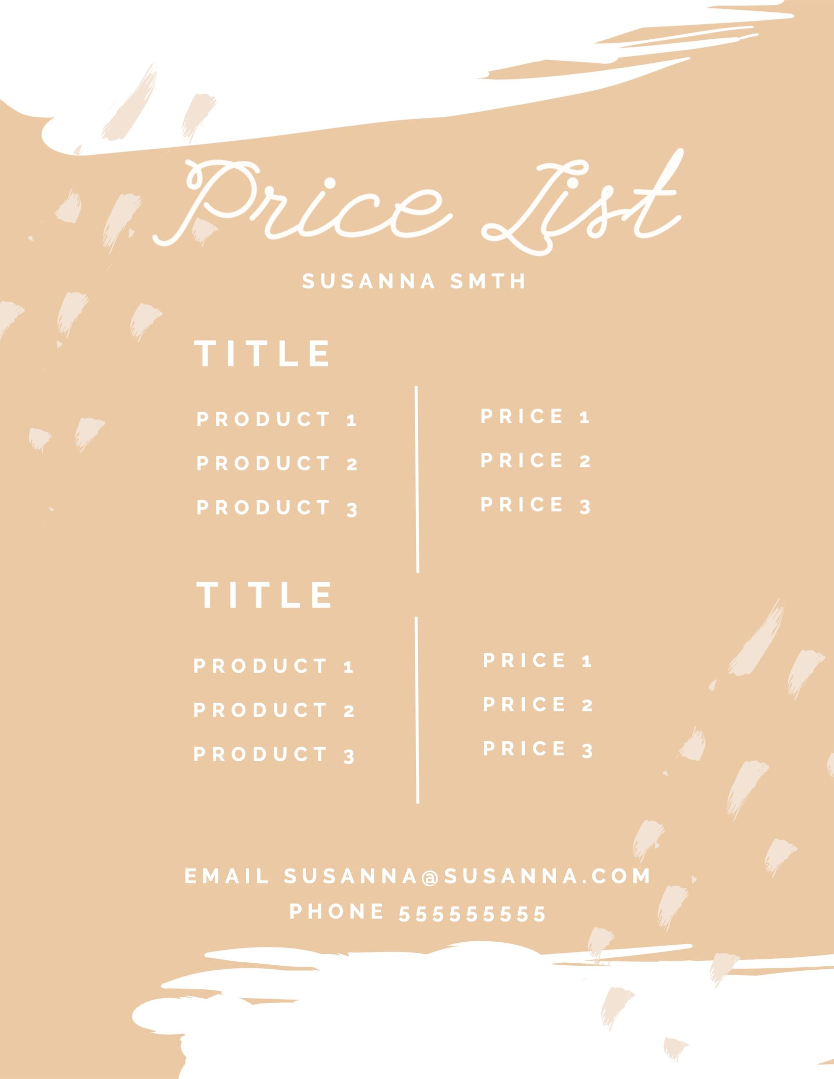 A template is something that establishes or serves as a pattern for reference. Price List Mockup Generator