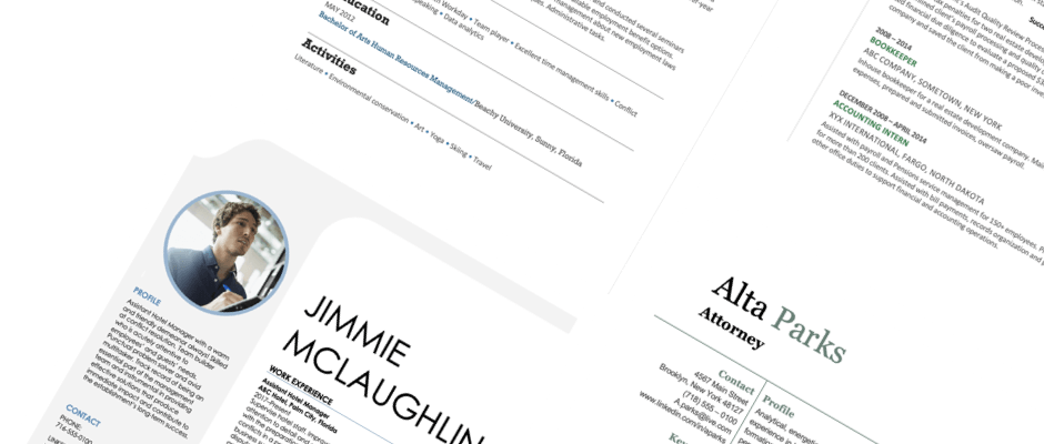An online database is often ideal. Resume Templates