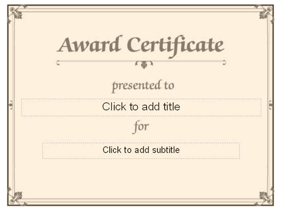 Publisher Certificate Templates Award Microsoft