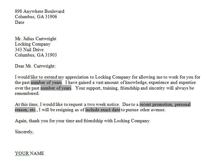 Give It A Nice Closing  Two Weeks Notice