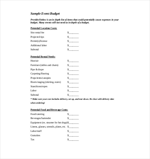 Event Budget Template Sample, Free Event Budget Template, Event Budget Template Example, Event Planning Budget Template