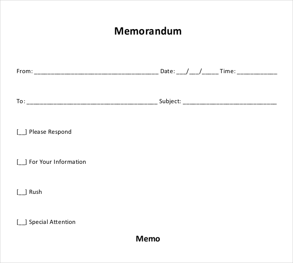 10+ Free Memo Templates -Word PDF Samples Example - Template Section
