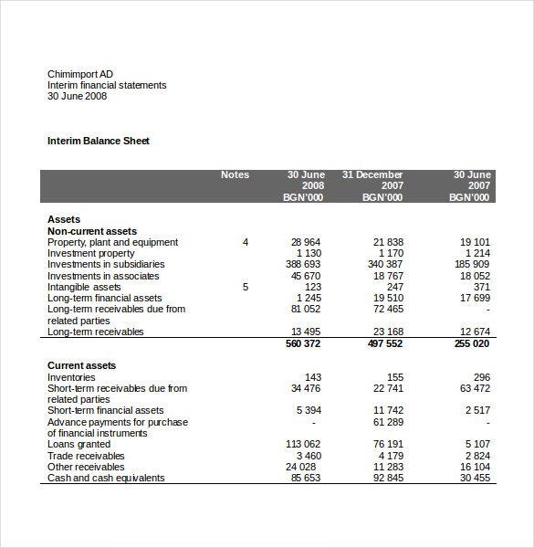 Income Statement Template Word 15 Free Income Statement Templates  Word Excel  Template Section