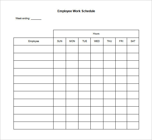 10 daily schedule templates printable excel word pdf template