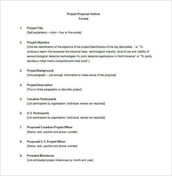 project outline template project outline template word project proposal outline template - Proposal Outline
