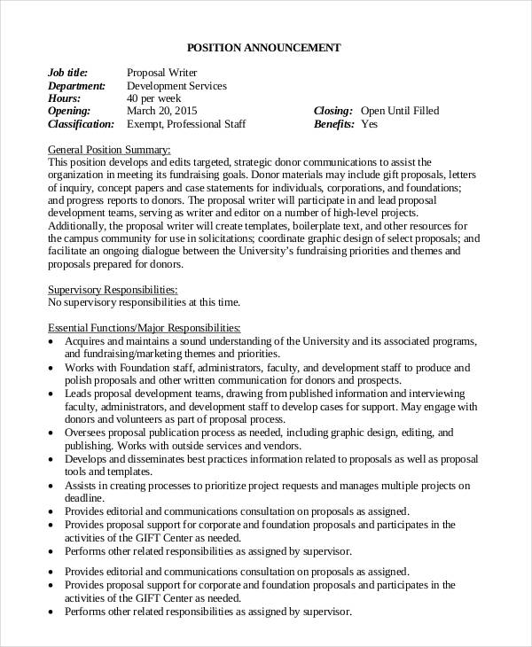 job proposal template free