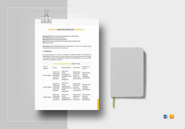 meeting minutes templates 12 free word excel samples template