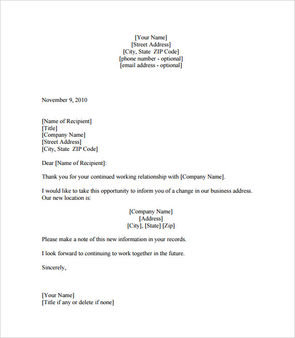 Business Letter Template, Business Letter Format Template, Business Letter  Template Word, Free Business