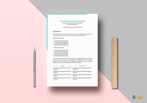 Meeting Minutes Template, Free Meeting Minutes Template, Meeting Minutes  Template Word, Meeting Minutes  Business Meeting Minutes Template Word