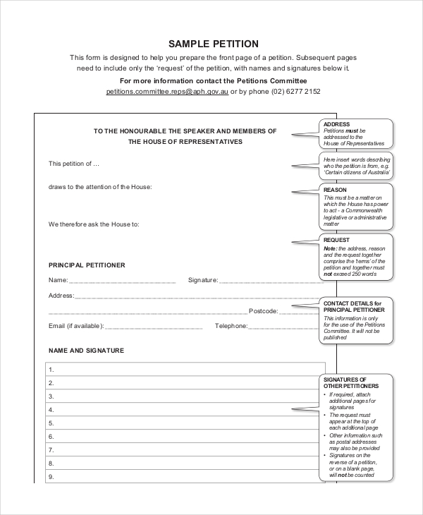 Petition Template, Free Petition Template, Petition Template Word, Petition  Form Template, Petition