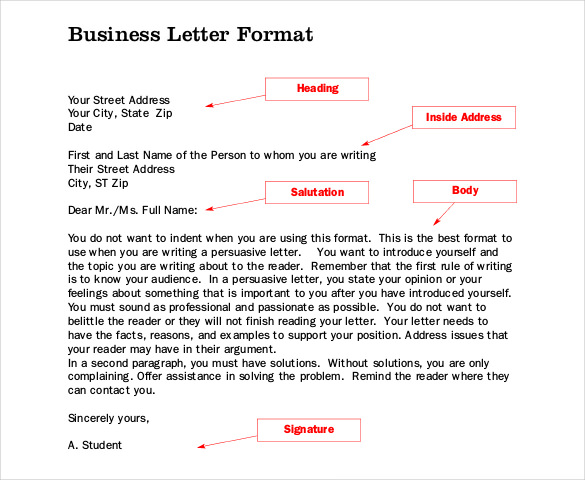 Formal business letter format templates sample example template business letter format sample spiritdancerdesigns Images