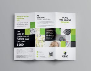 Angular Corporate Tri-Fold Brochure Template