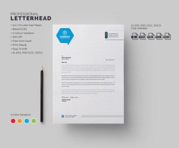 Energy Professional Corporate Letterhead Template