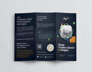 Logic Professional Corporate Tri-Fold Brochure Template