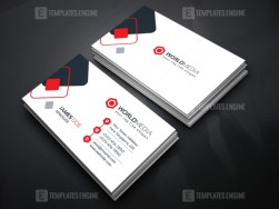Technology Company Business Card Template