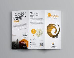 Venus Corporate Tri-Fold Brochure Template