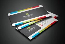PSD Vibrant Business Card Design