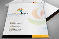 Vector Presentation Folder Template