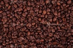 Dark brown coffee beans texture