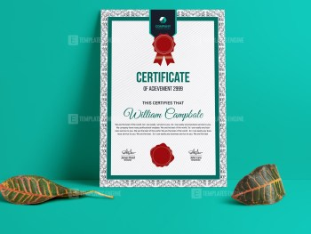 Quality Portrait Certificate Template